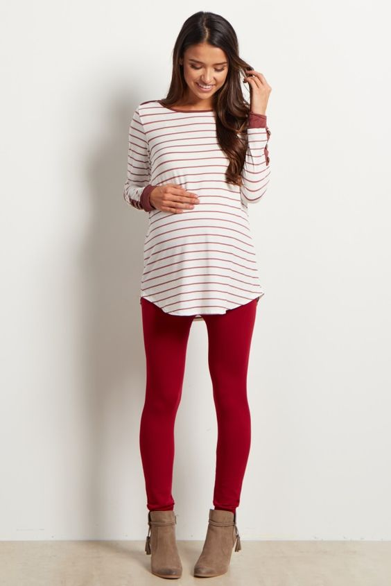 Leggins de color rojo